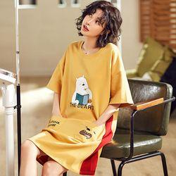 Đầm suông phôm rộng có túi trước chất liệu thun thoáng mát thoải mái 104