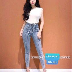 quần jeans nữ nơ cá tính giá sỉ