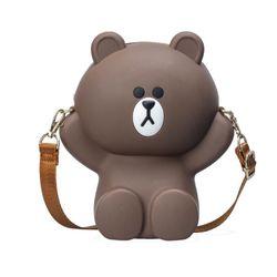 Túi đeo chéo gấu BROWN silicon dây xích giá sỉ
