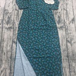 Áo dài lụa linen xanh lá đậm