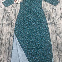Áo dài lụa linen xanh lá đậm giá sỉ, giá bán buôn