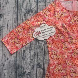 Áo dài truyền thống lụa cao cấp hoa hồng cam