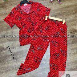 Đồ Bộ Pijama Lụa Quần Dài Gu Chi giá sỉ