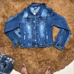 Áo khoát jeans nữ