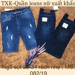 Quần jeans ngố nữ