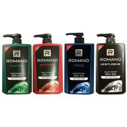 Dầu gội nam cao cấp Romano 650g có 4 mùi như hình giá sỉ