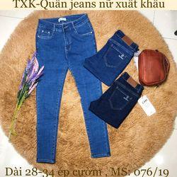 Quần jeans nữ dài 28-34 giá sỉ