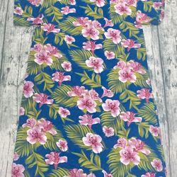 Áo dài truyền thống lụa Hàn xanh hoa tím nhạt