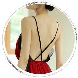 Đầm ngủ đỏ đô phủ ren ngực cực chất cực gợi cảm
