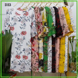 Đầm Trung Niên Suông Tay Cột giá sỉ