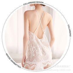 Váy ngủ thêu hoa nổi hai lớp cực xinh giá hấp dẫn giá sỉ, giá bán buôn