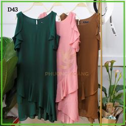 Đầm Trung Niên Màu Rớt Vai Bèo giá sỉ, giá bán buôn