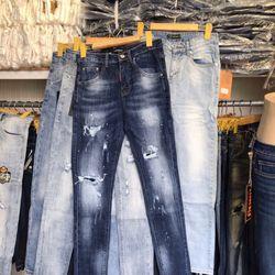 Quần jeans nam dài QC 28-34 giá sỉ, giá bán buôn