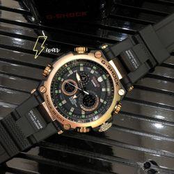 Đồng hồ thể thao GS dây cao su viền kim loại giá sỉ