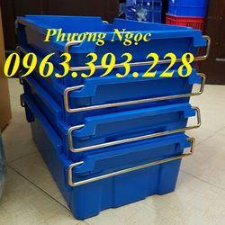 Thùng nhựa đặc A2 có quai xách hộp nhựa có quai sắt hộp nhựa công nghiệp giá sỉ