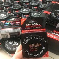 Bột chà răng tinh chất than đen White Glo Úc