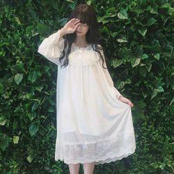 Váy ngủ Bánh bèo nữ Voan QC cao cấp