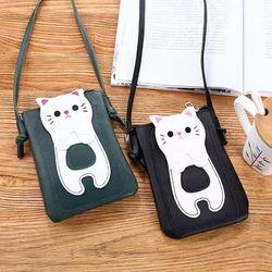 Túi đeo chéo đựng điện thoại hình mèo có nhiều màu