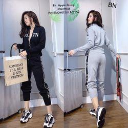 set bộ đồ nữ đẹp chất cá tính dễ thương giá rẻ thể thao kéo khóa VLTN BN 97899 giá sỉ