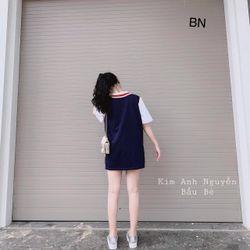 set bộ đồ nữ đẹp chất cá tính dễ thương giá rẻ áo cộc tay gile len logo BN 75449 giá sỉ, giá bán buôn