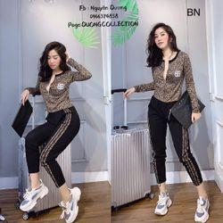set bộ đồ nữ đẹp chất cá tính dễ thương giá rẻ len QC họa tiết BB BN 701908 giá sỉ