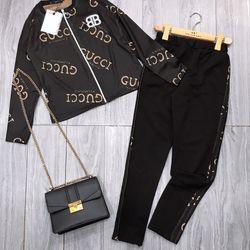 set bộ đồ nữ đẹp chất cá tính dễ thương giá rẻ len QC họa tiết BB BN 701908 giá sỉ, giá bán buôn