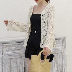 Áo khoác nữ họa tiết pha lê chất len mỏng giá sỉ, giá bán buôn