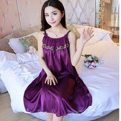 Váy ngủ 2 dây nơ xinh xắn nhiều màu sắc