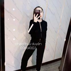 set bộ đồ nữ đẹp chất cá tính dễ thương giá rẻ áo len quần phối sọc BN 47669 giá sỉ