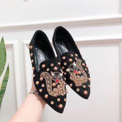 Giày bup bê mui nhọn cáo giá sỉ