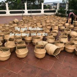 bộ 3 giỏ cói trồng cây đựng đồ giá sỉ