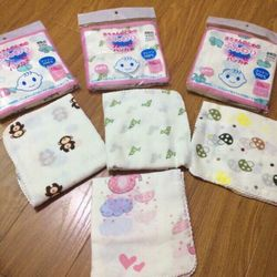Set 10 khăn sữa in hoa xuất Nhật giá sỉ