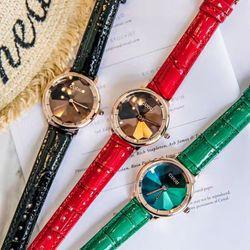 Đồng hồ nữ GUOU 6034 dây da giá sỉ