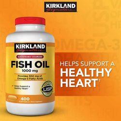 Dầu Cá Kirkland Signature Fish Oil 1000 Mg 400 Viên Nắp đỏ giá sỉ