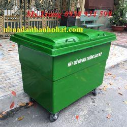 Xe thu gom rác 4 bánh xe thu gom rác nhựa composite giá sỉ