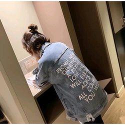 Áo Khoác Jeans unisex in chữ giá sỉ