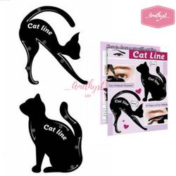 Set 2 Khuôn Kẻ Eyeliner Tô Bầu Mắt Hình Mèo Cat Line