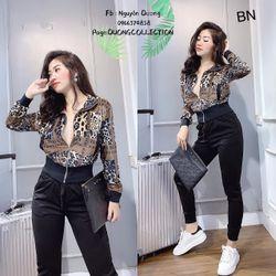 set bộ đồ nữ đẹp chất cá tính dễ thương giá rẻ nhung họa tiết BN 611656 Kèm Ảnh Thật giá sỉ