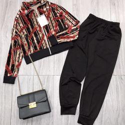 set bộ đồ nữ đẹp chất cá tính dễ thương giá rẻ nhung họa tiết BN 611656 Kèm Ảnh Thật giá sỉ, giá bán buôn