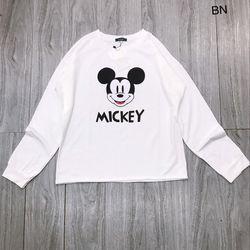 áo phông thun nữ đẹp kiểu hàn quốc dễ thương giá sỉ dài tay mickey BN 93735