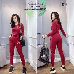 set bộ đồ nữ đẹp chất cá tính dễ thương giá rẻ len gân cổ tròn balen BN 36693 Kèm Ảnh Thật giá sỉ