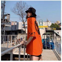 áo nữ màu cam in đầu mèo phôm bự như hình giá sỉ