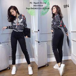 đồ bộ thể thao nữ mùa hè đẹp hàn quốc giá rẻ das 3D BN 09963 Kèm Ảnh Thật giá sỉ