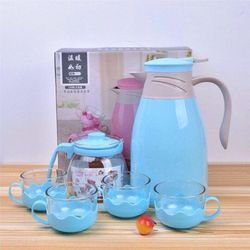 Bộ bình nước kèm bình trà và 4 cốc thủy tinh giá sỉ