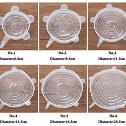 Bộ 6 miếng màng bọc thực phẩm silicon co giãn giá sỉ