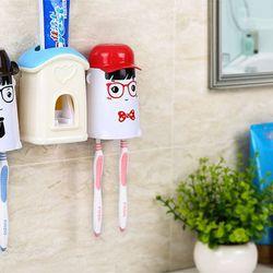 Bộ dụng cụ lấy kem đánh răng tự động kèm 2 giá treo bàn chải Ecoco giá sỉ, giá bán buôn