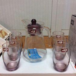 Bộ bình ly thủy tinh 7 món giá sỉ
