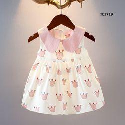 Váy thô mềm mát hình vương miện dễ thương cho công chúa giá sỉ