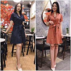 Đầm Suông Cổ Vest Thanh Lịch Giá Rẻ - GR0005 giá sỉ