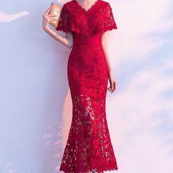 Đầm ren dạ hội cao cấp giá sỉ